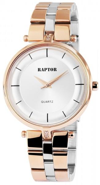 Raptor Damen-Uhr Edelstahl Armband Analog Quarz mit Faltschließe RA10013
