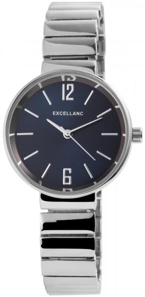 Excellanc Damen-Uhr Metall Zugarmband Clipverschluss Quarz Analog 1800142