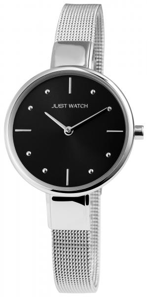 Just Watch Damen-Uhr Edelstahl Milanaiseband Slimlime Analog Quarz JW10009