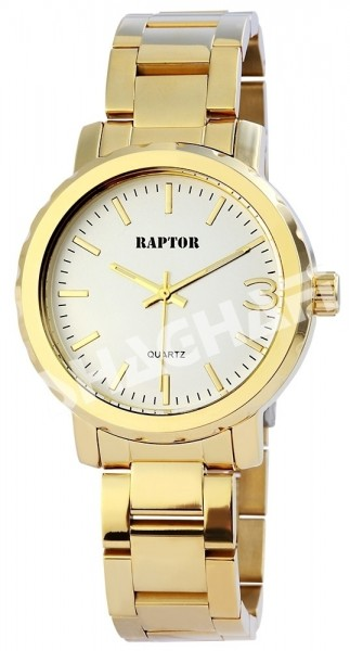 Raptor Damen-Uhr Metallarmband Faltschließe Luminazeiger Analog Quarz RA10126