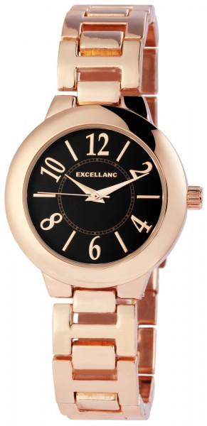 Excellanc Damen-Uhr Gliederarmband Metall Faltschließe Analog Quarz 1800167