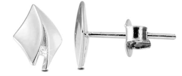 Giulia Luna Damen – Ohrstecker 925er Silber rhodiniert Ohrringe Strass GL5200029