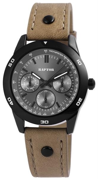Raptor Damen-Uhr Armbandoberseite Echtleder Analog Quarz RA10154-004