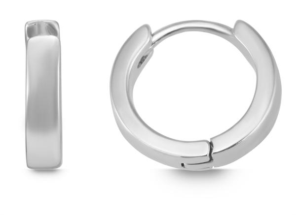 Giulia Luna Damen – Creolen 925er Silber rhodiniert Ohrringe GL5200066
