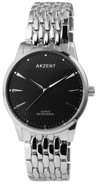 Akzent Exclusive Herren - Uhr Metall Armbanduhr Elegant Analog Quarz 2800069