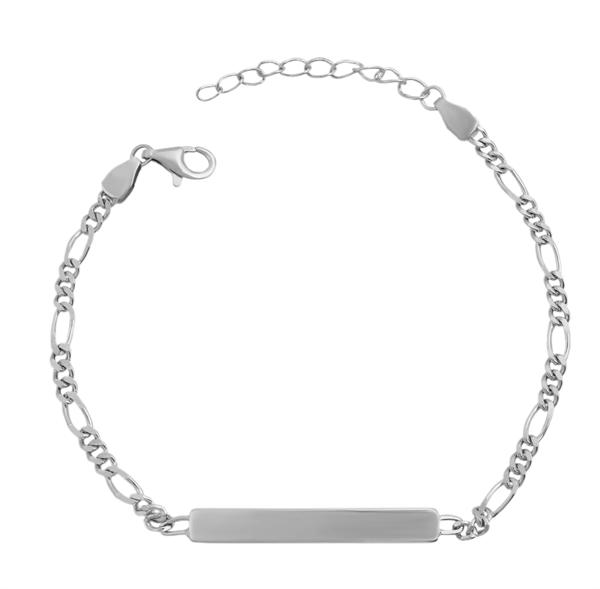 Echt Silber Armband , 14+3cm, 925/ rhodiniert, 2,3g