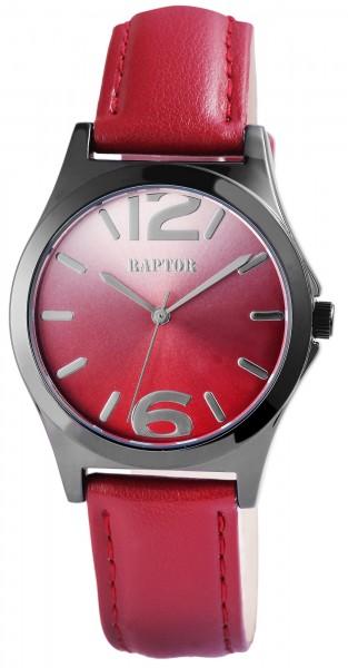 Raptor Damen-Uhr Echtleder Armband Dornschließe Analog Quarz RA10100