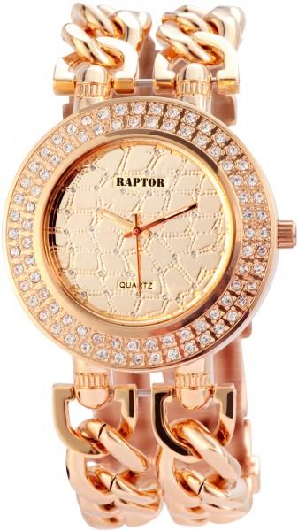 Raptor Damen - Uhr Metall Ketten Armband Strass-Steine Analog Quarz RA10048…
