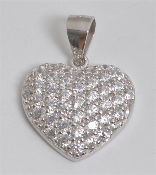 Giulia Luna Damen-Halskette Anhänger 925er Silber Herz Liebe Strass GL5210044