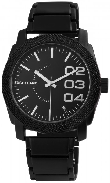 Excellanc Herren-Uhr Gliederarmband Metall Faltschließe Analog Quarz 2800028