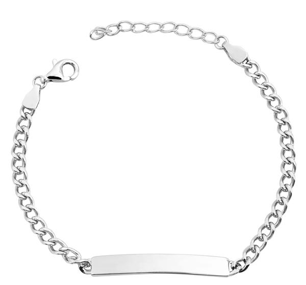 Echt Silber Armband , 14+3cm, 925/ rhodiniert, 2,8g