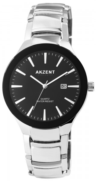 Akzent Exclusive Herren - Uhr Metall Armbanduhr Datum Elegant Analog Quarz 2800074