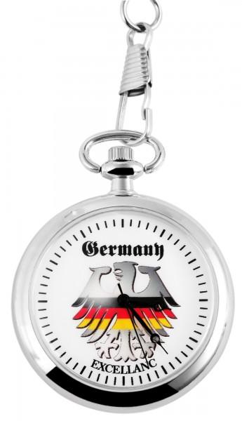Excellanc Herren-Taschenuhr Metall Motivzifferblatt 4000024