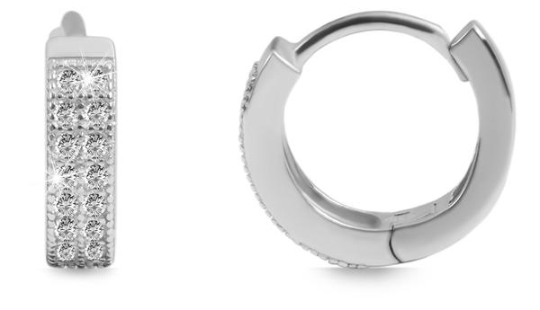 Giulia Luna Damen-Creolen Edel 925er Sterling Silber Ohrringe Strass GL5200113