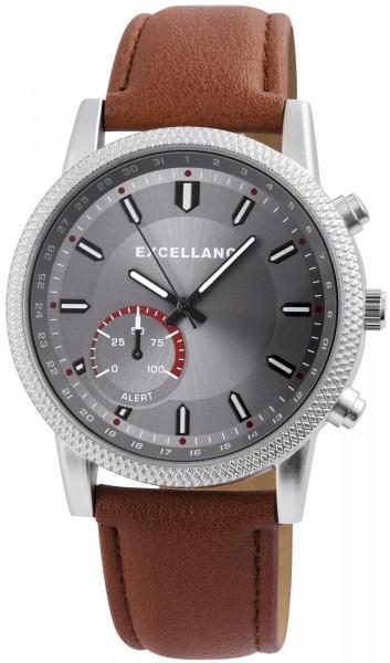 Excellanc Herren-Uhr Lederimitat Dornschließe Analog Quarz 2900112