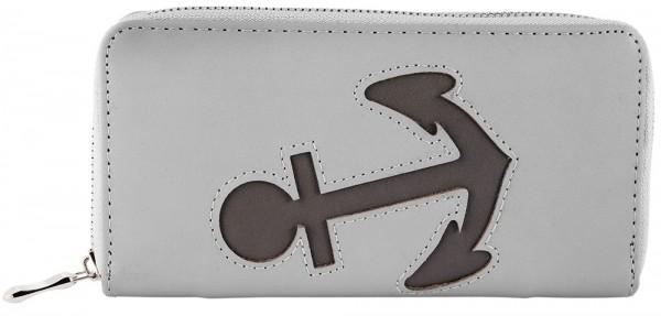Damen Geldbörse aus Lederimitat. Format 19 x 10 cm.
