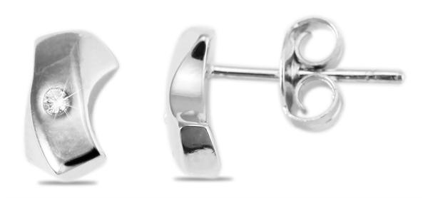Giulia Luna Damen – Ohrstecker 925er Silber rhodiniert Ohrringe Strass GL5200045