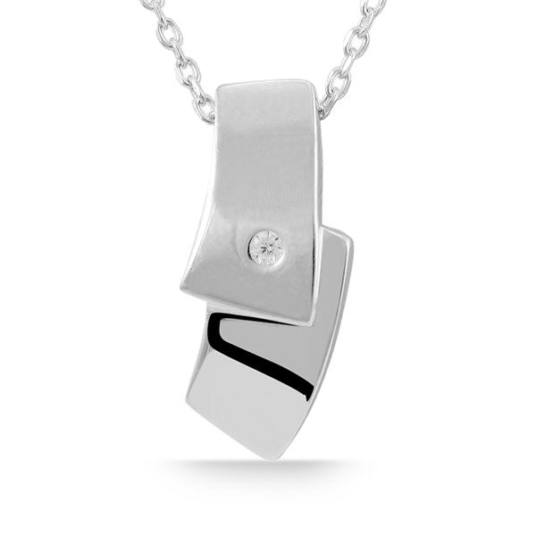 Giulia Luna Damen-Halskette Anhänger Elegant 925er Silber Strass-Stein GL5210019