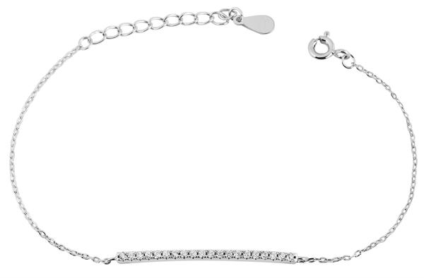 Giulia Luna - Armband 925er Silber Strass-Stein 16+3 cm Armkettchen GL5240003