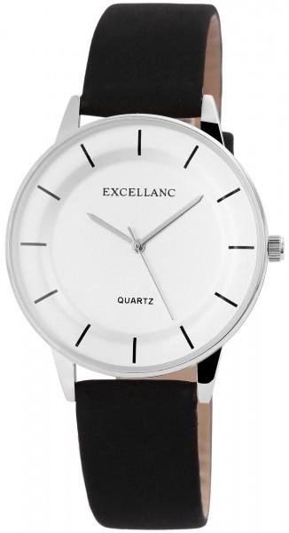Excellanc Damen-Uhr Lederitationsarmband Dornschließe Analog Quarz 2910012