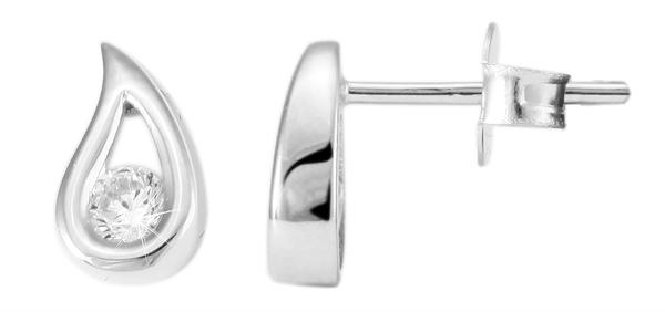 Giulia Luna Damen –Ohrstecker 925er Silber rhodiniert Ohrringe Strass GL5200019