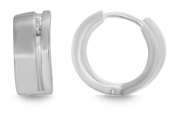 Giulia Luna Damen – Creolen 925er Silber rhodiniert Ohrringe GL5200074