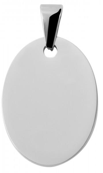 Akzent Gravur-Anhänger Edelstahl Oval 5020138