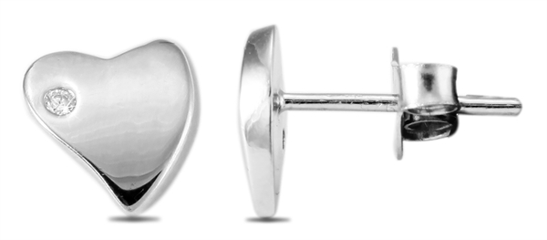 Giulia Luna Damen – Ohrstecker 925er Silber rhodiniert Ohrringe Strass GL5200035
