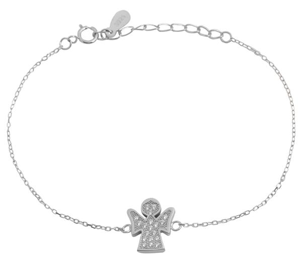 Giulia Luna-Armband 925er Silber Engel Schutz 16+3 cm Armkettchen GL5240007