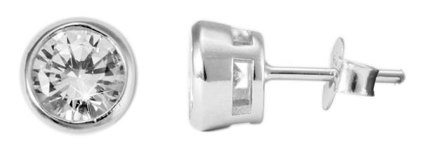 Giulia Luna Damen – Ohrstecker 925er Silber Ohrringe rhodiniert Strass GL5200007