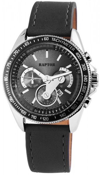 Raptor Analog Herrenuhr mit Lederband, Ø 45 mm - 2979XX0090