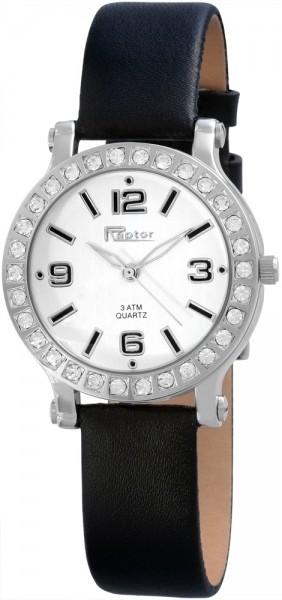 Raptor Damen - Uhr Echtleder Armband mit Dornschließe Analog Quarz RA10104
