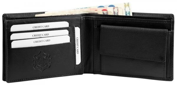 Excellanc Herren-Geldbörse Echt Leder 12,5 x 9,5 cm Querformat RFID 3000375