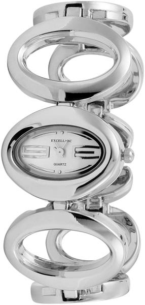 Excellanc Analog Damenuhr, Metall, Silber - 180022500342