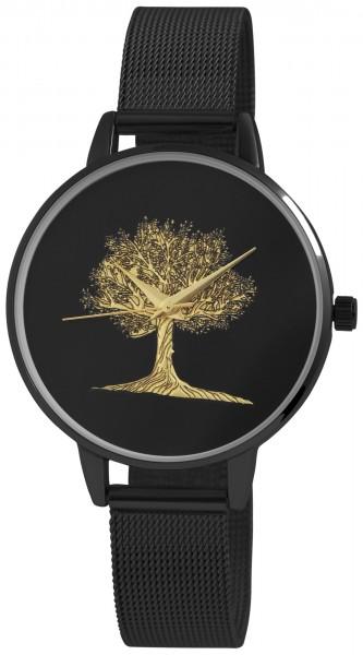 Excellanc Damen-Uhr Baum Milanaisearmband Edelstahl Quarz Analog 1300026