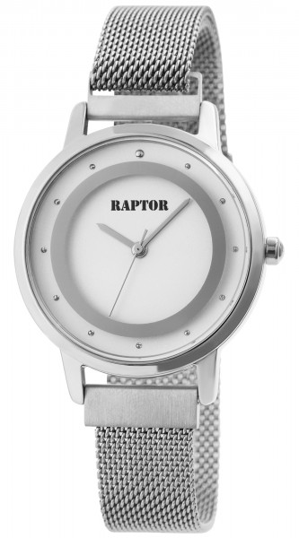 Raptor Damen-Uhr Edelstahl Milanaiseband Magnetverschluß Analog Quarz RA10199