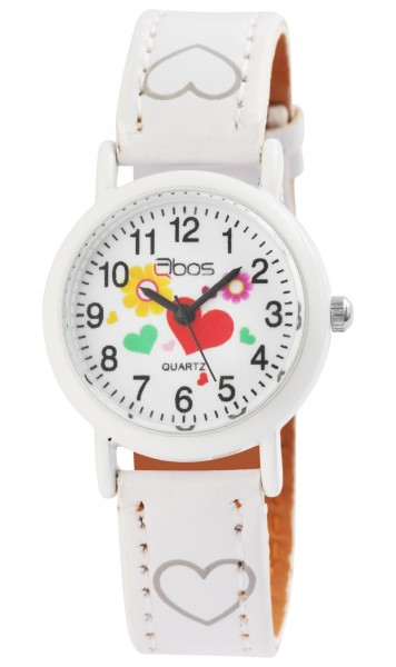 QBOS Kinder – Uhr Lederimitations Armbanduhr Jungen Mädchen Analog Quarz 4900002