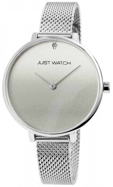 Just Watch Aram Herren-Uhr Echt Leder Leuchtzeiger Datum Analog Quarz JW10113