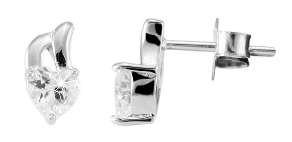 Giulia Luna Damen – Ohrstecker 925er Silber Ohrring Strass rhodiniert GL5200017