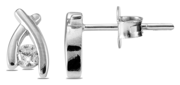 Giulia Luna Damen – Ohrstecker 925er Silber rhodiniert Ohrringe Strass GL5200042