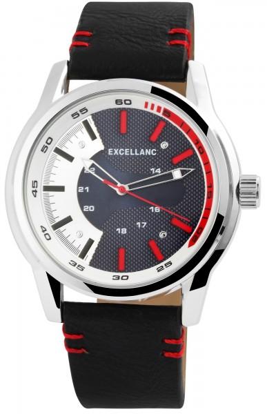 Excellanc Herren – Uhr Lederimitat Armbanduhr Analog Quarz 2900103