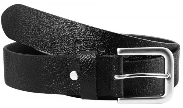 Leonardo Verrelli Herren - Gürtel aus Leder Schwarz kürzbar 100 cm 3100022