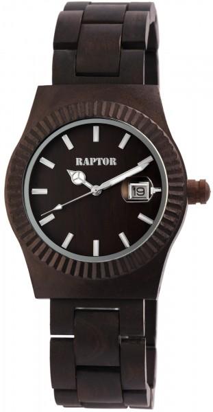 Raptor Damen Armbanduhr RA092 Holzband Analog RA20047