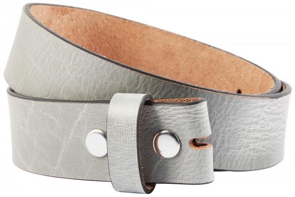 Leonardo Verrelli Echt Leder Gürtel, grau