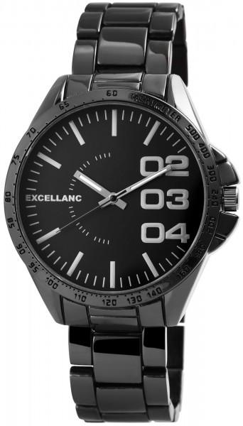 Excellanc Herren-Uhr Gliederarmband Metall Faltschließe Analog Quarz 2800046
