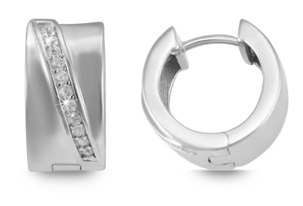 Giulia Luna Damen – Creole 925er Silber rhodiniert Ohrringe Strass GL5200065