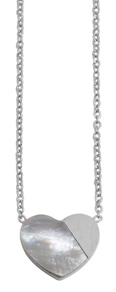 Akzent Damen - Halskette Herz Anhänger Edelstahl Ankerkette 43+5cm 5010268