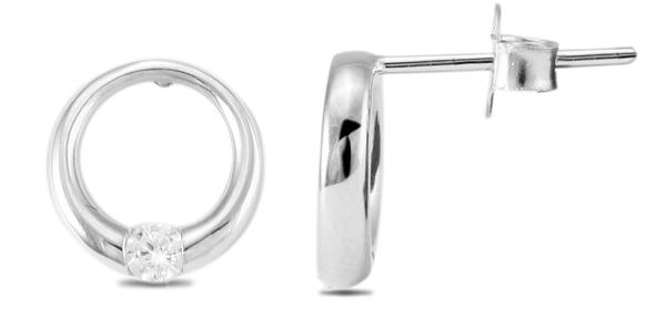 Giulia Luna Damen –Ohrstecker 925er Silber rhodiniert Ohrringe Strass GL5200024
