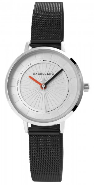 Excellanc Damen-Uhr Milanaisearmband Edelstahl Hakenverschluss Quarz Analog 1300029