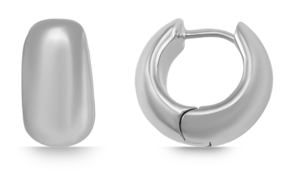 Giulia Luna Damen – Creolen 925er Silber rhodiniert Ohrringe GL5200071